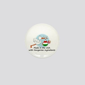 Stork Baby Hungary USA Mini Button